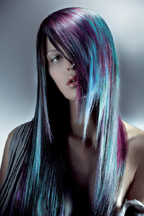 Blue and Purple Hair Styles