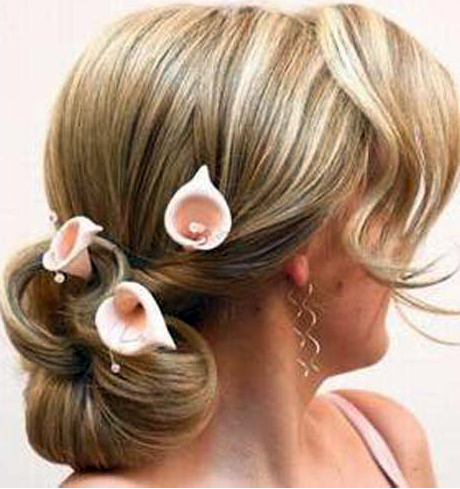 Tulips in Wedding Updo. Posted under: Blonde Hair,Updo Hairstyle