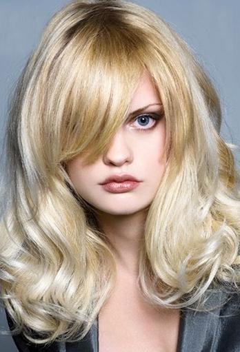 blonde haircuts with bangs. Beige Blonde Bangs