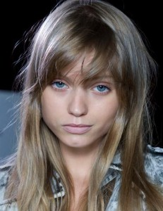 Abbey Lee Kershaw with bangs