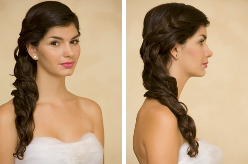 prom hair 2011 half up half down. Half down prom hairstyle with