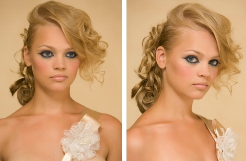 prom hairstyles 2011 curly updos. A curly updo with dramatic