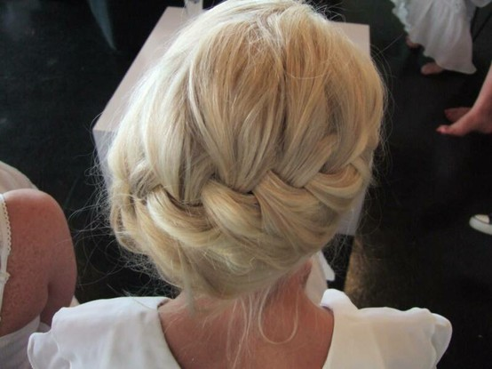 side braid prom hair