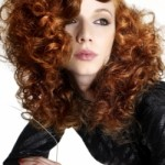 red hair color curls