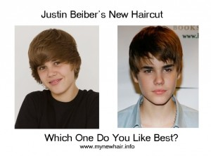 justin beiber's new hair