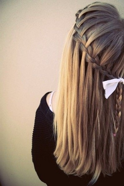 bow waterfall braid