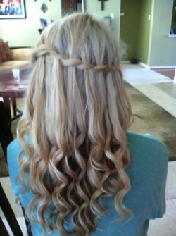 blonde cascade braid