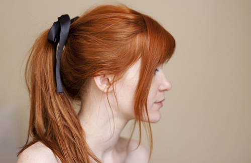 red-hair-ponytail - My New Hair