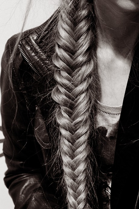 Fishtail braid inspiration my new hair for Fish tail hair