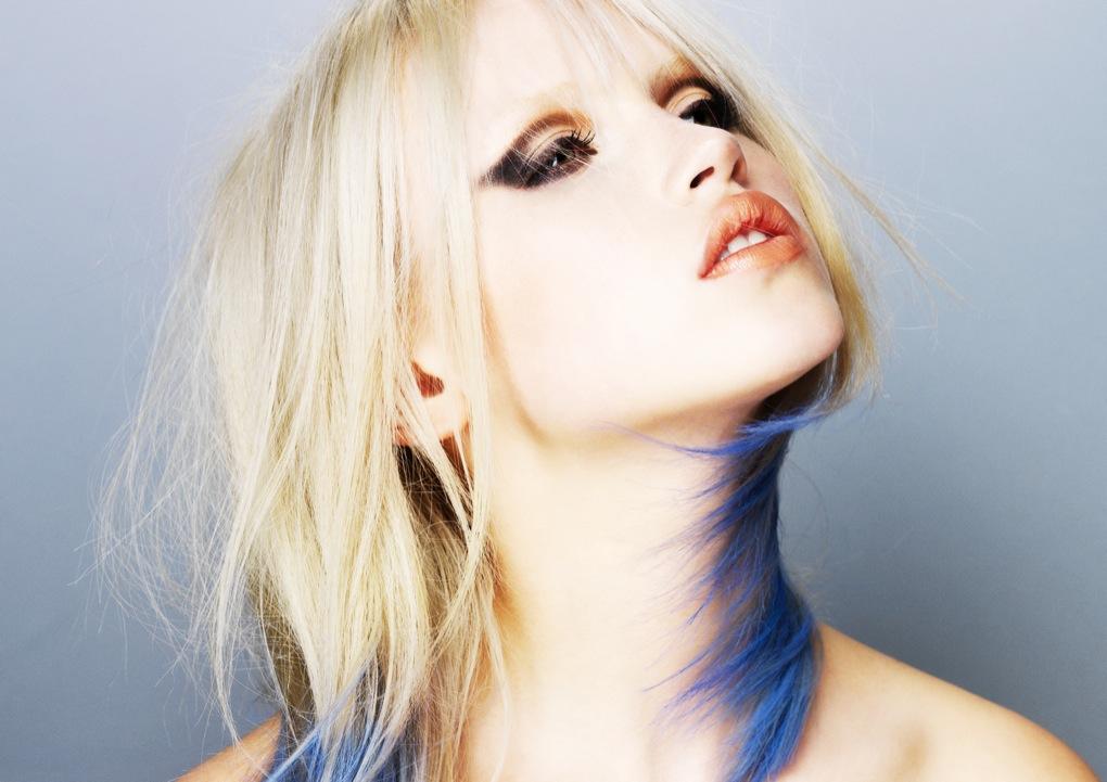 Wondrous Blonde Blue Dip Dyed Hair My New Hair Short Hairstyles Gunalazisus