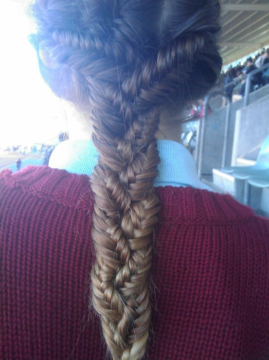 crazyfishtailbraid my new hair