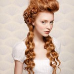 wedding hair in red