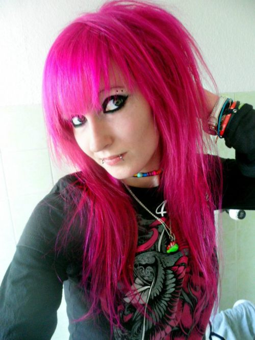 Pink scene hair my new hair scene girl with pink hair urmus