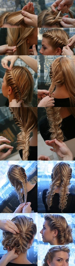 double french fishtail braid tutorial
