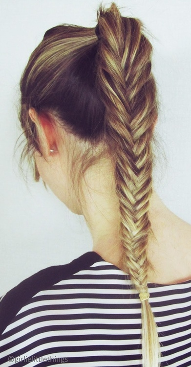 braided hair fishtail