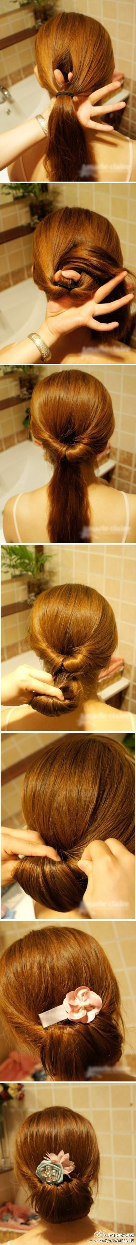 simple bun hairstyle tutorial