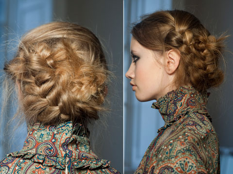 up braided hairstyle