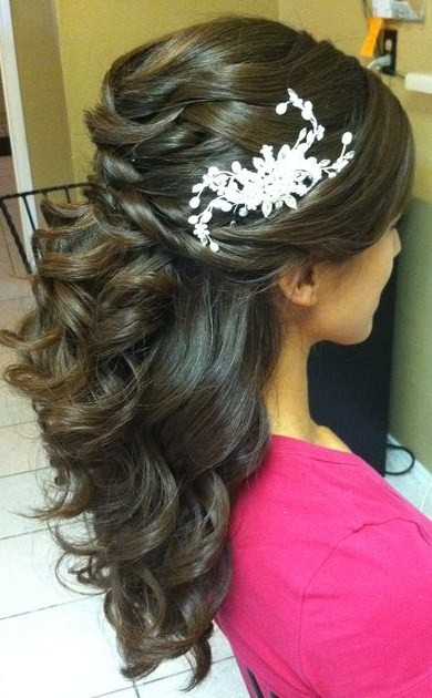 Beautiful half up and half down curls , perfect wedding hair if you ...