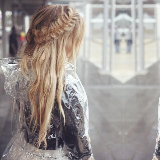 Pretty messy braid fishtail
