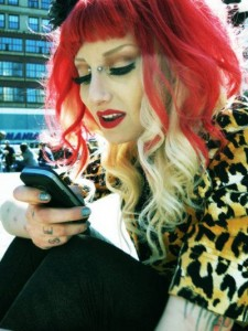 Red & Blonde alternate hairstyle