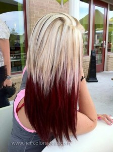 red and blonde hair combo from Hair Colors Ideas