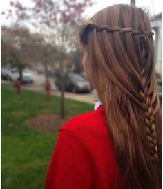 straight hair braid hairstyle