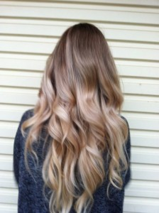 Subtle blonde balayage